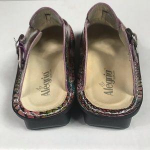 Alegria Shoes - Alegria Multi-Color Snake Print Slip On Clogs